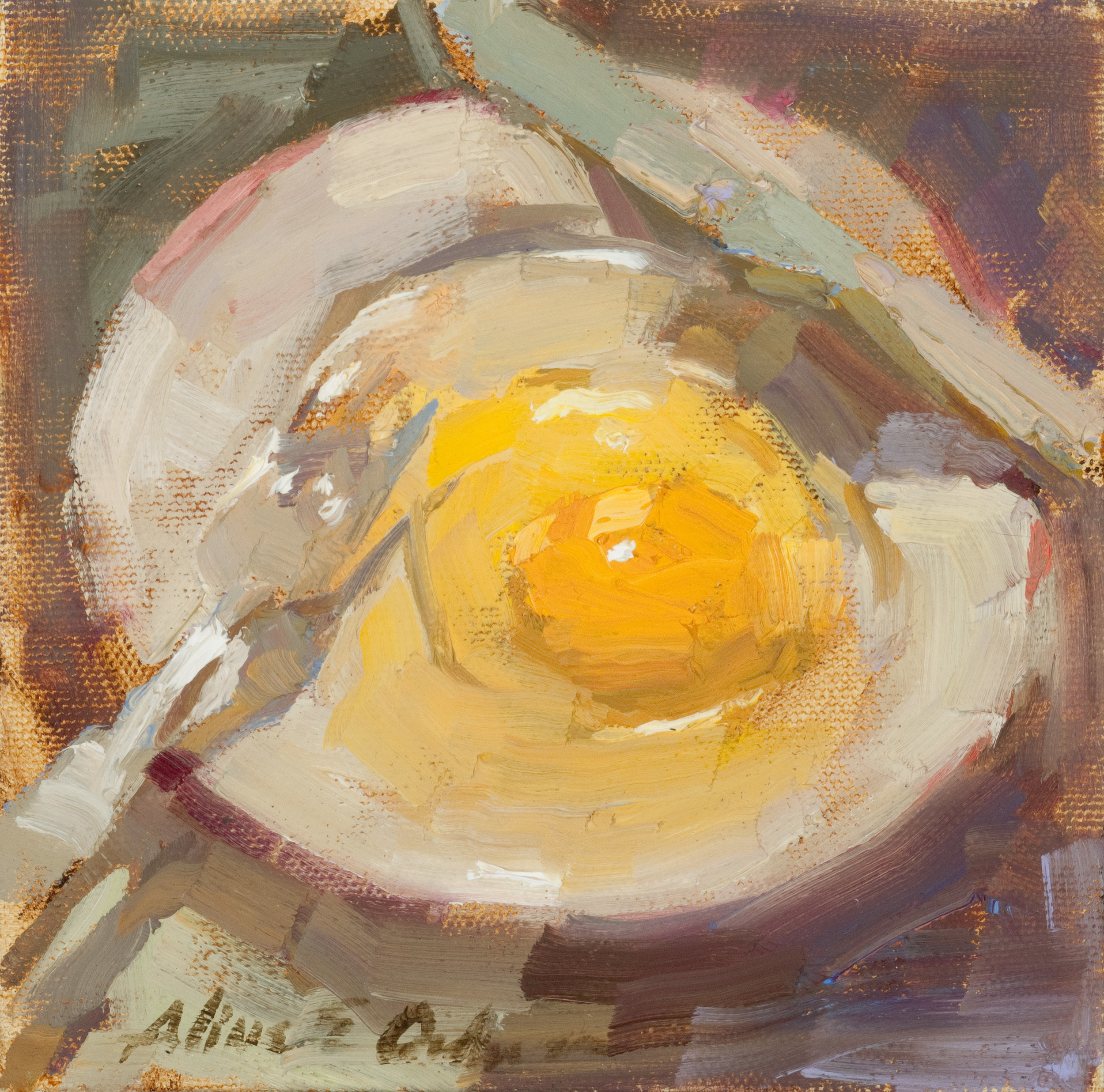 """Sunny Side Up oil 6"""" x 6"""""""