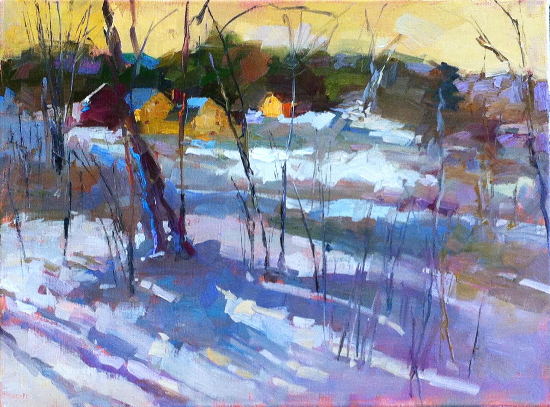 Winter Blue 12 X 16 Oil SOLD