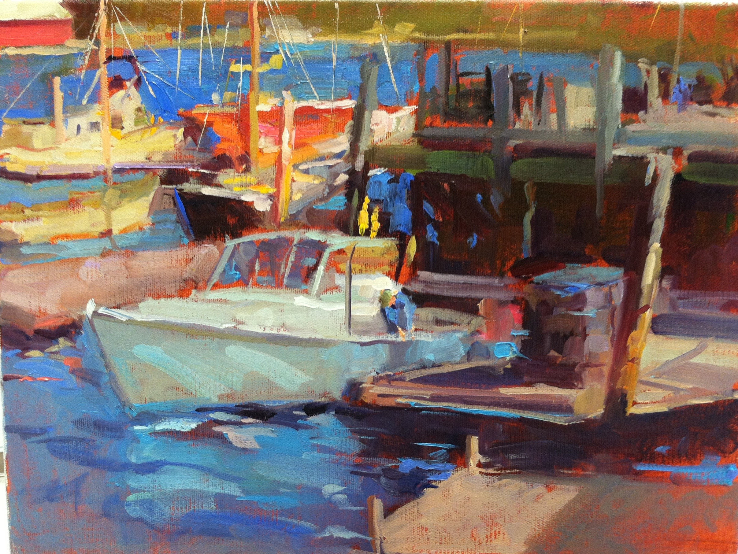 Colorful Camden, ME  12 x 16 o/c