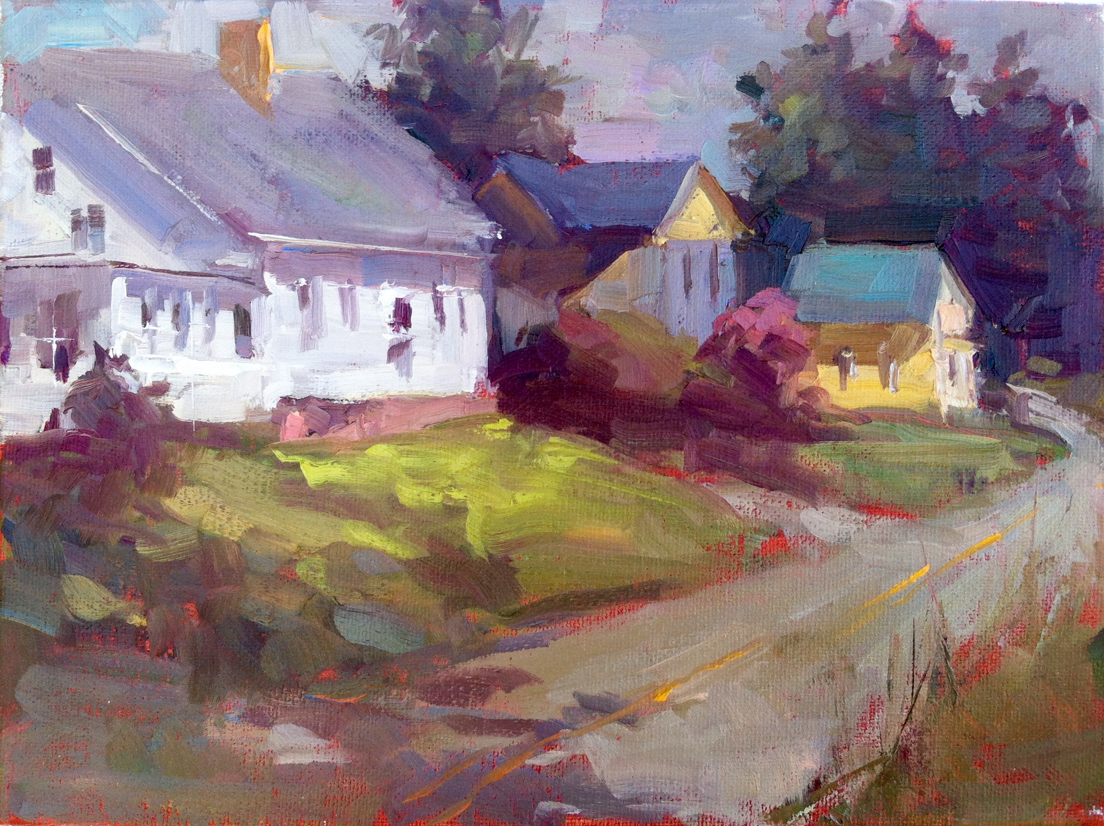 Sunny Maine Morning 9 x 12 oil