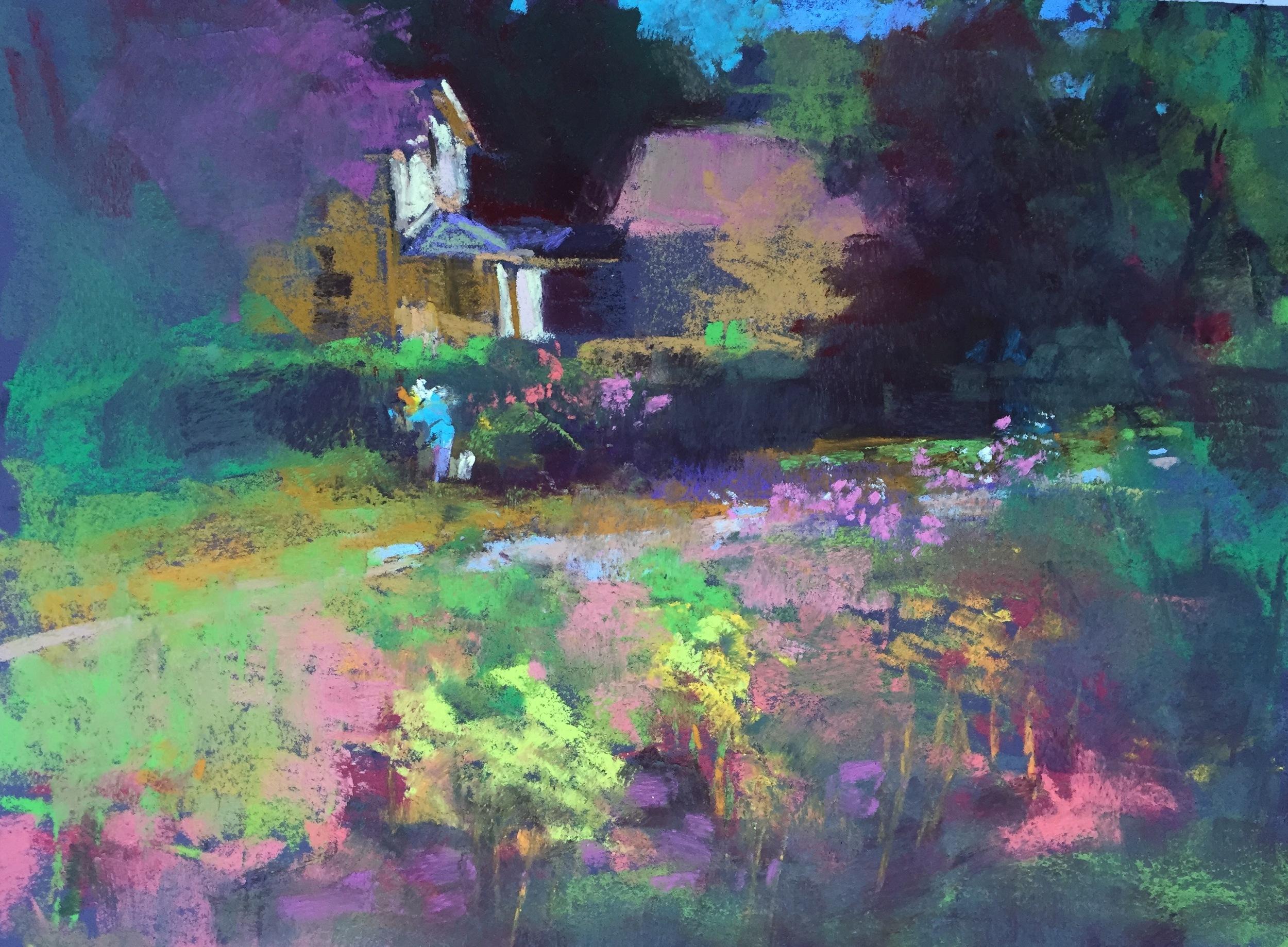 Garden House  9 x 12