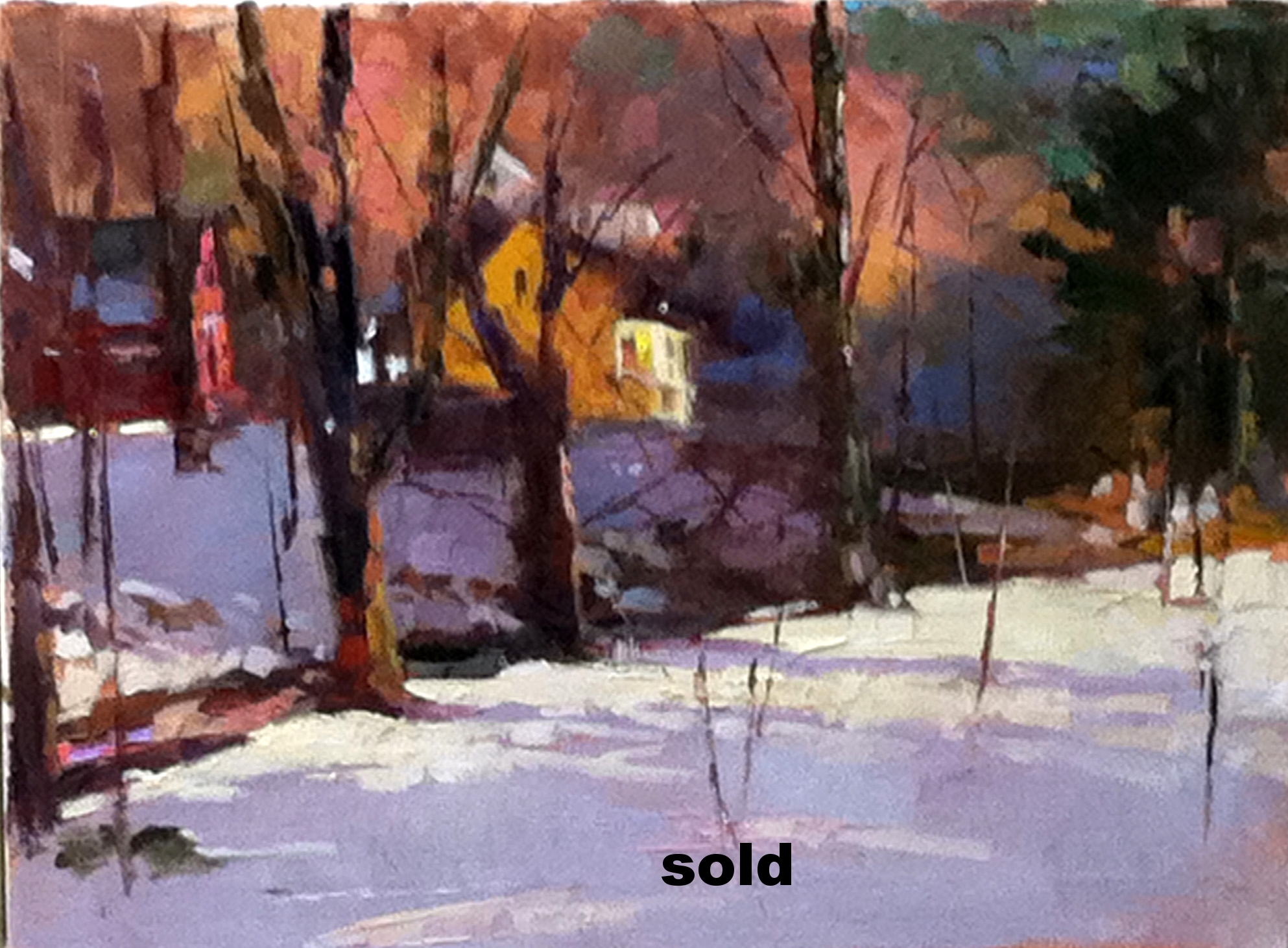 Light in the Woods 12 X 16 oil SOLD