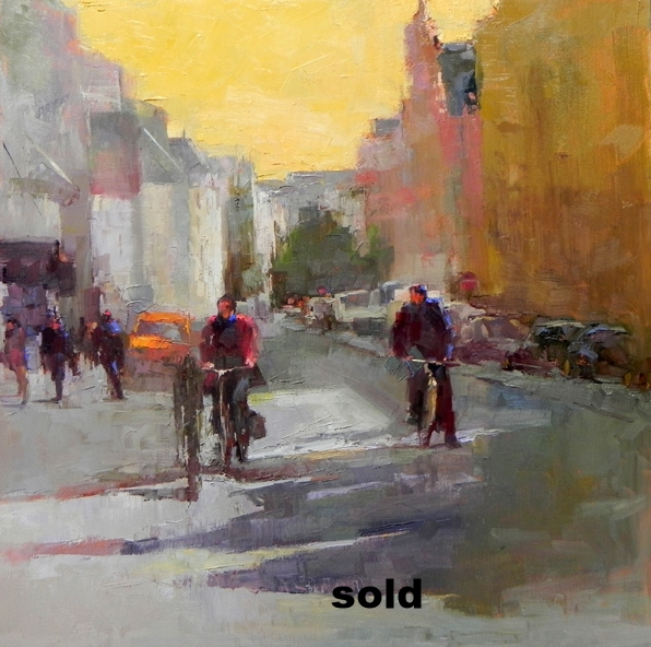 "Paris Bikers  o/c 20"" x 20""SOLD"