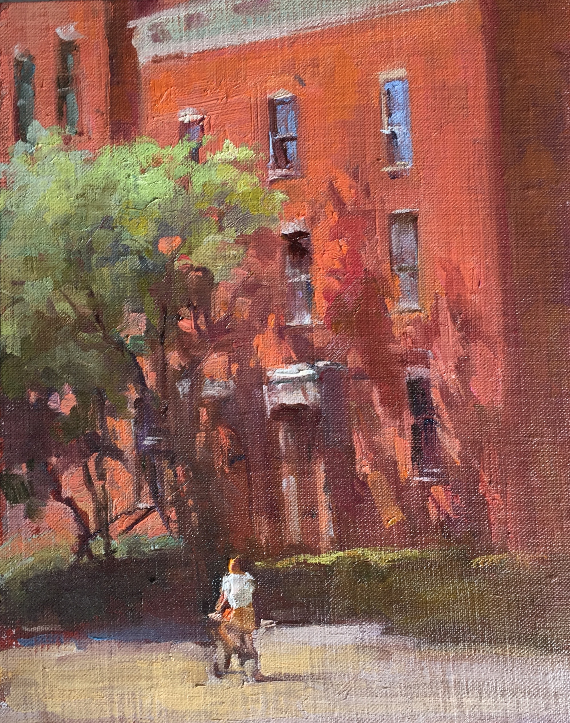 Brownstone 8 x 10 oil on board