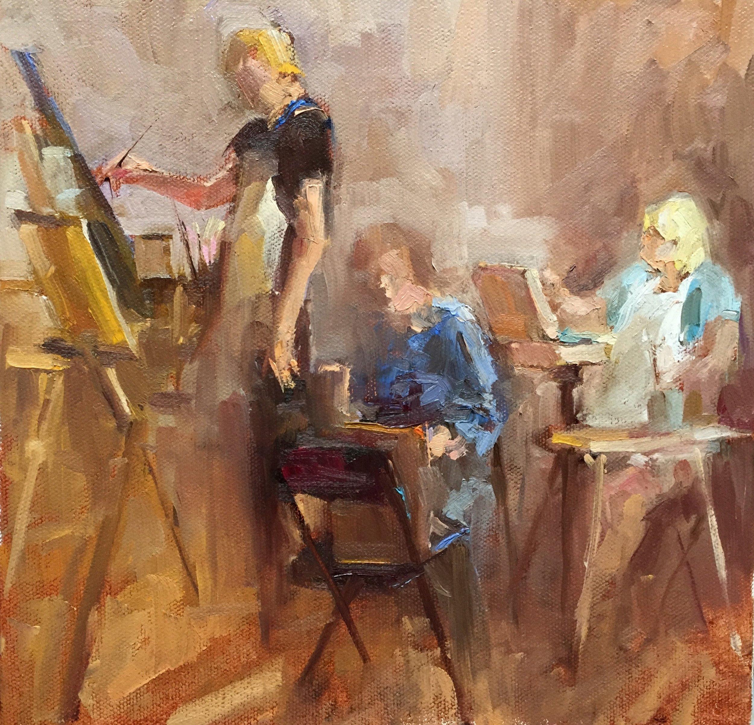 In the Studio  10 x 10 o/c