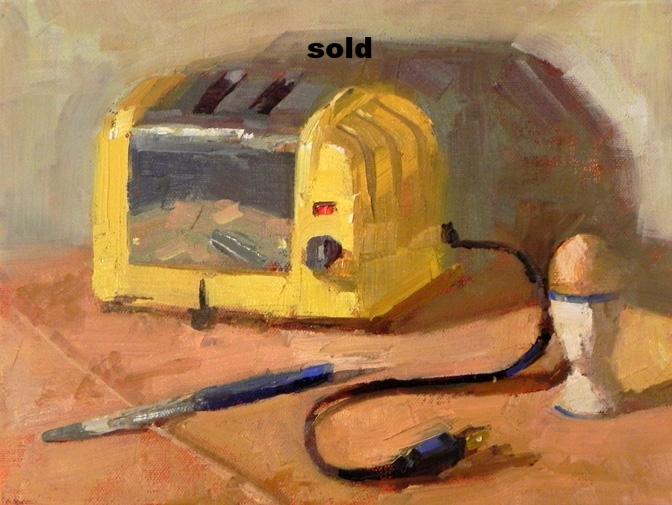 """Retro  oil 9"""" x 12""""SOLD"""