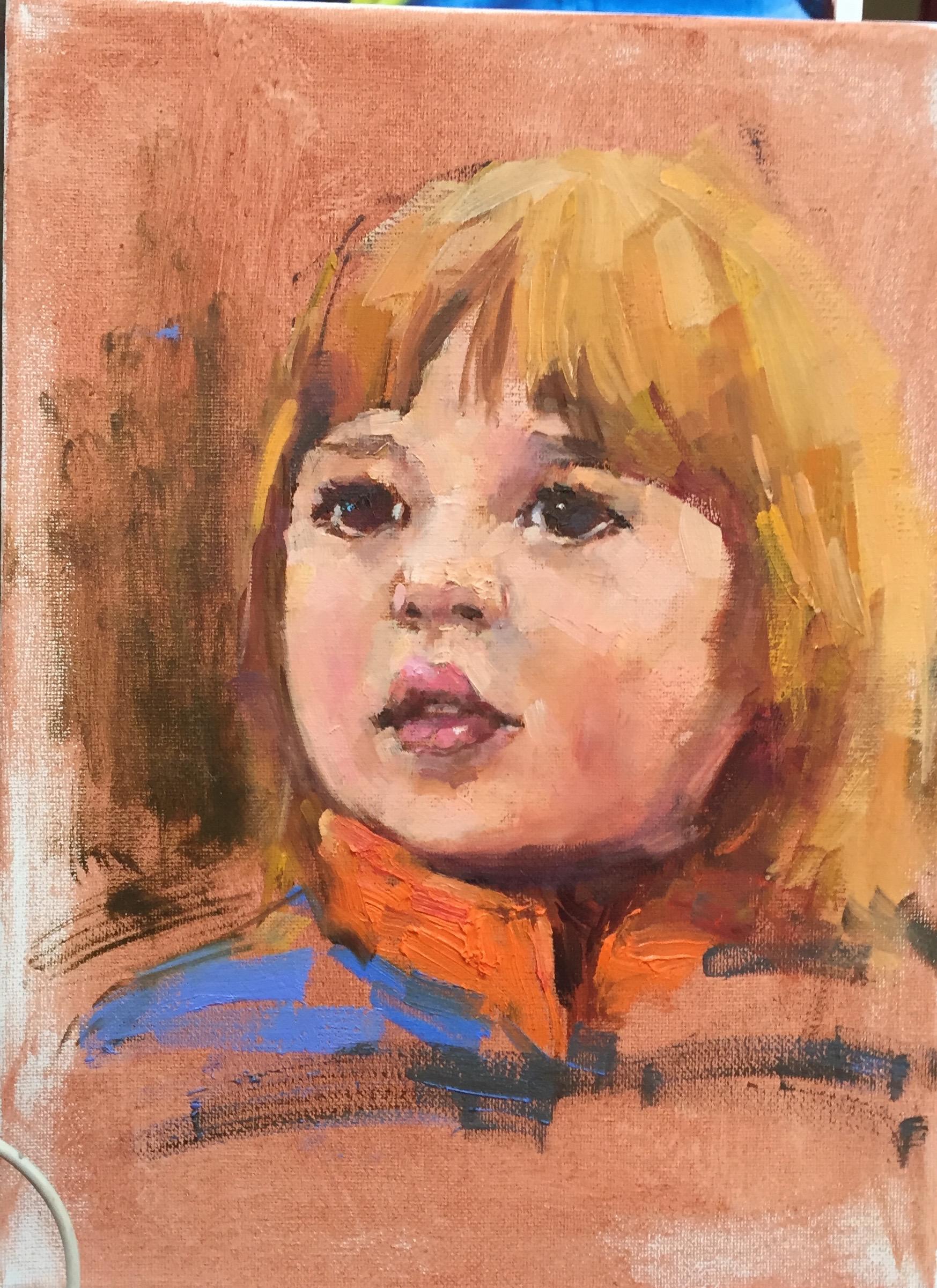Nicholas  9 x 12 oil on canvas