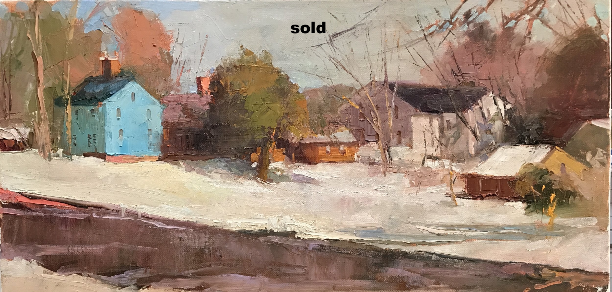 Deerfield, MA  12 x 24 oil