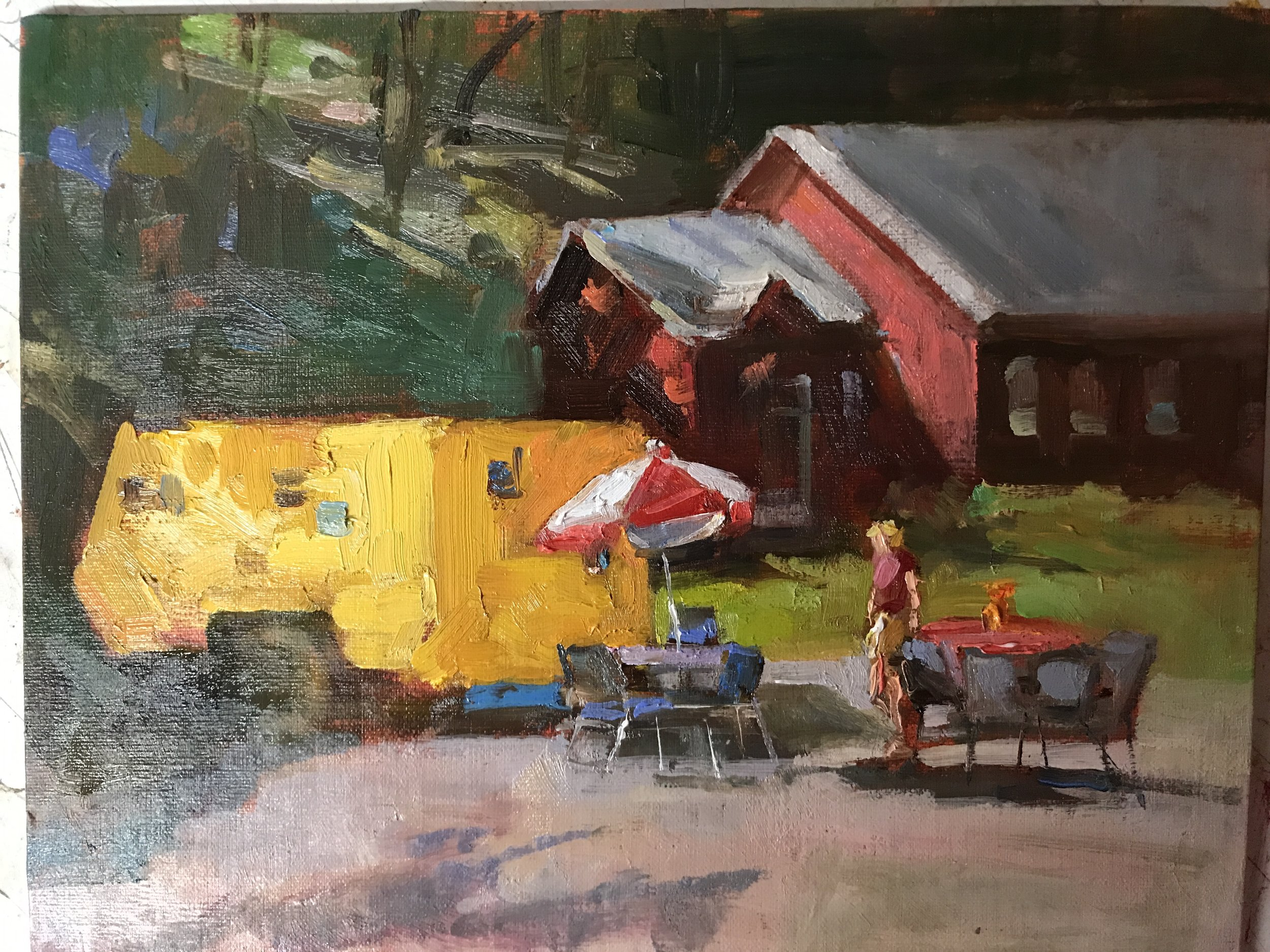 Food Truck  9 x 12 oil on board