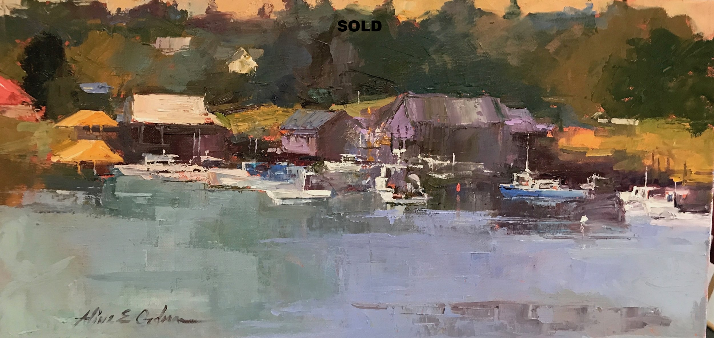 Maine Harbor 12 x 24 sold