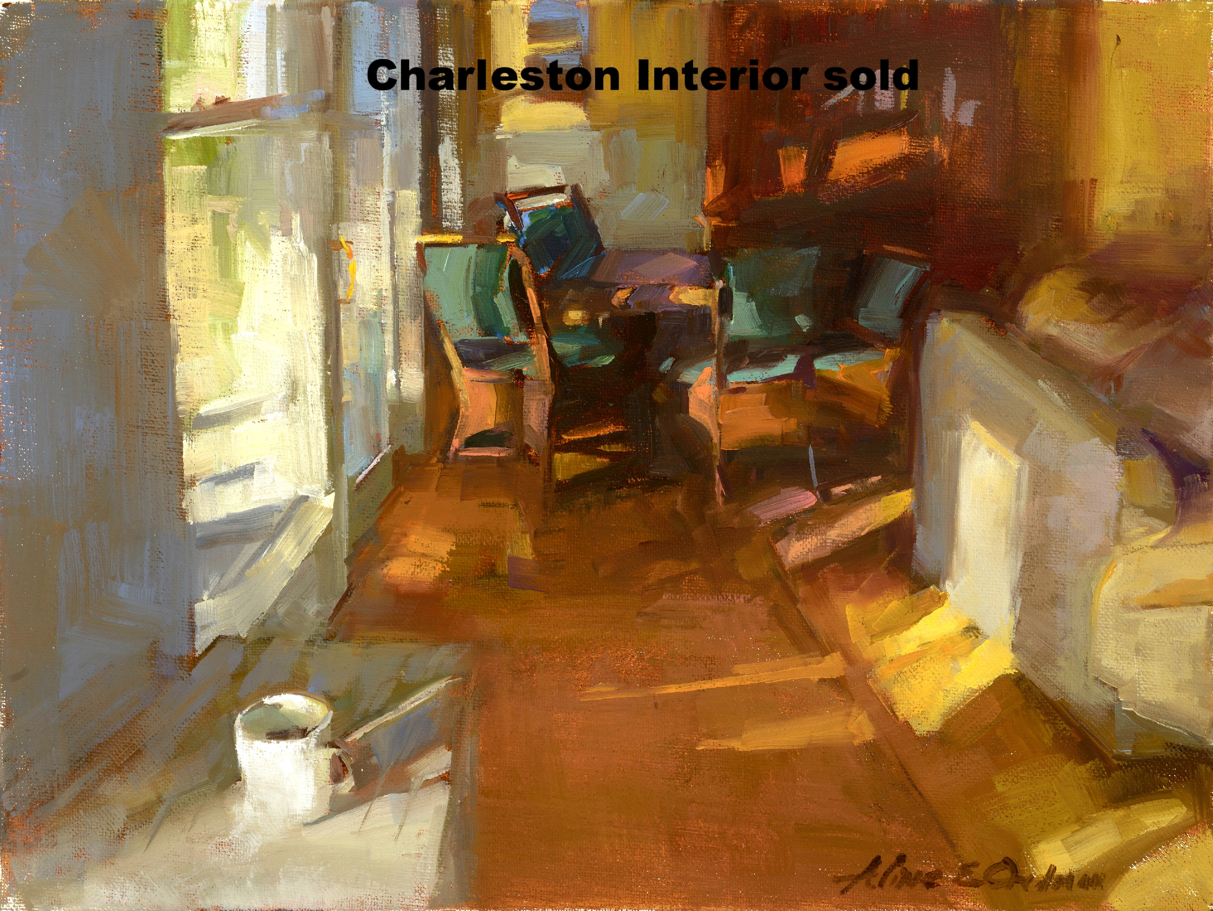 Charleston Interior 12 x 16 oil on canvas SOLD