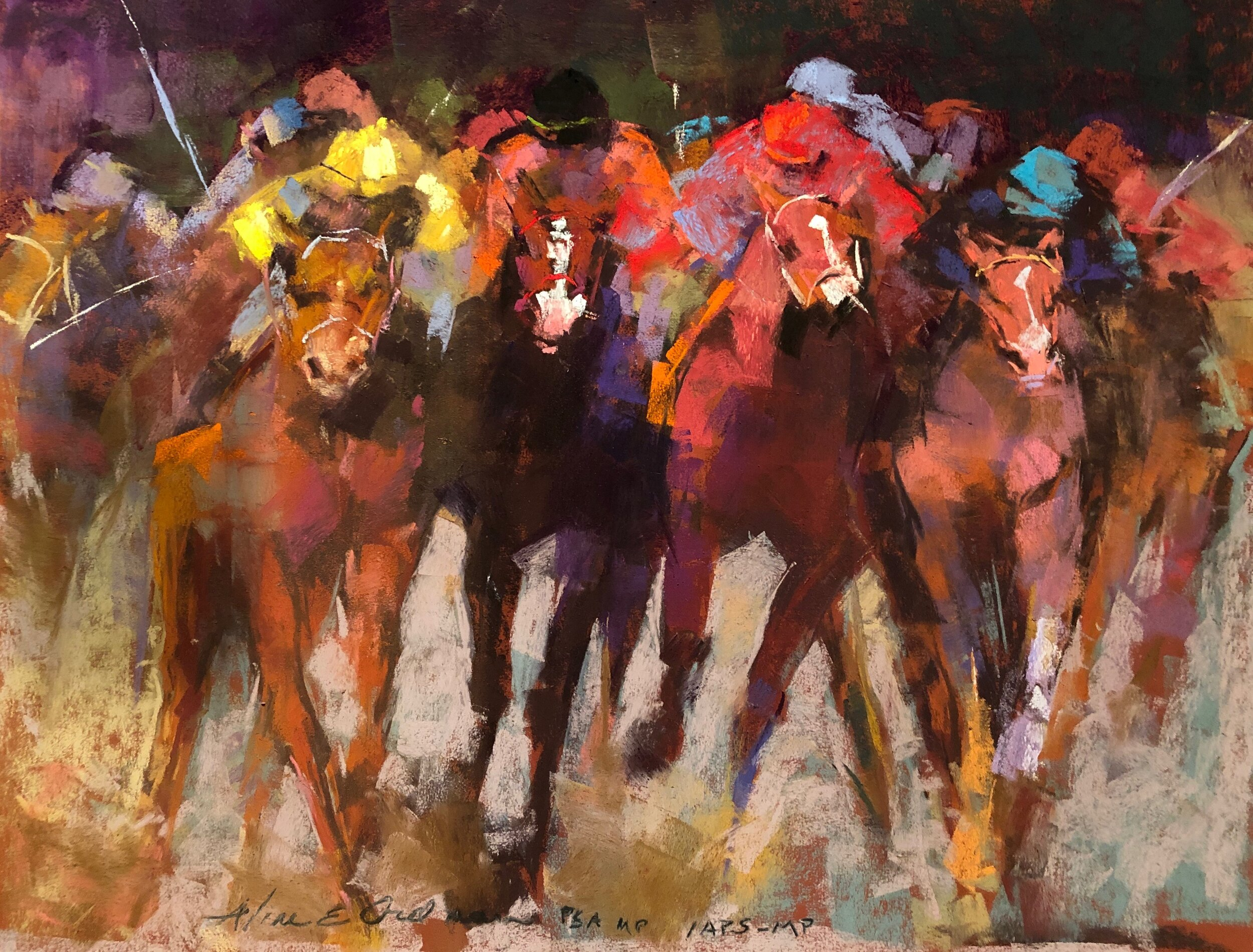 """Finish Line""  Winner of the Pastel Journal 100 2019 Founders Award in honor of Maggie Price"