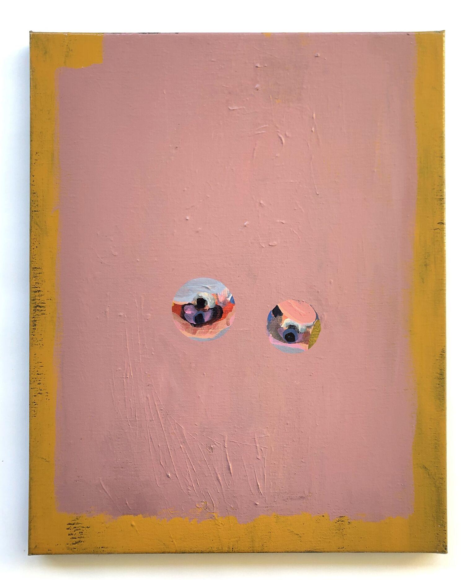 I det klareste dobbeltsyn / akryl på lærred, 50 x 40 cm