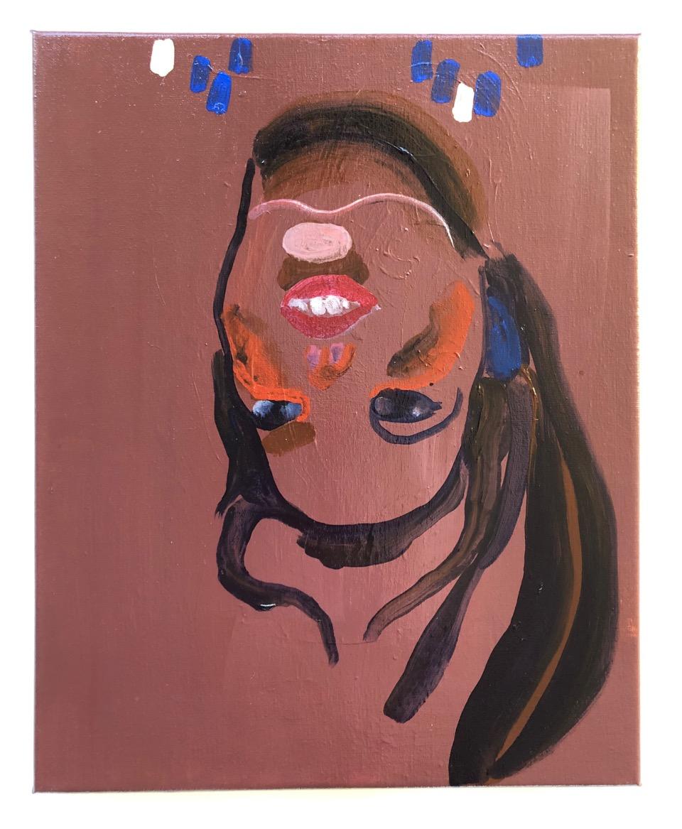 Den plukkemodne puppe/ akryl på lærred, 50 x 40 cm