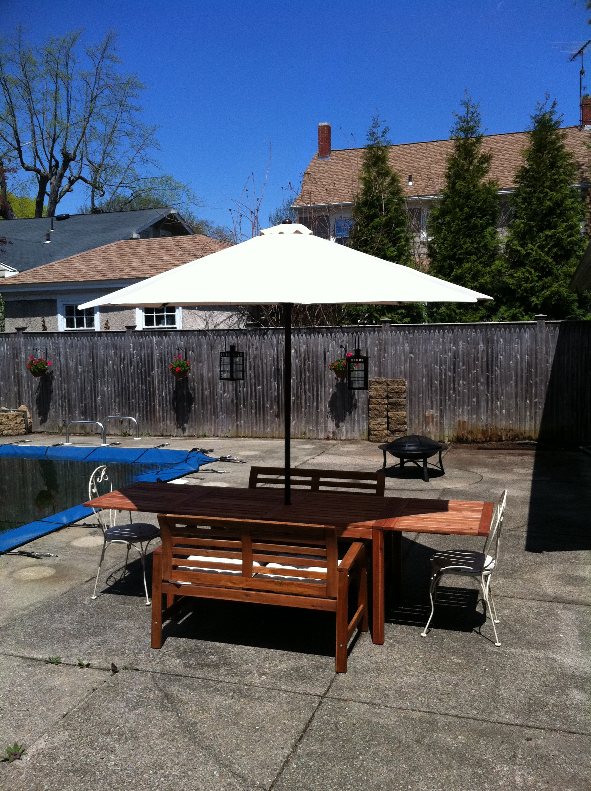 Summer One, after the purchase of the house, in which the entire back yard contained concrete, even the pool coping.