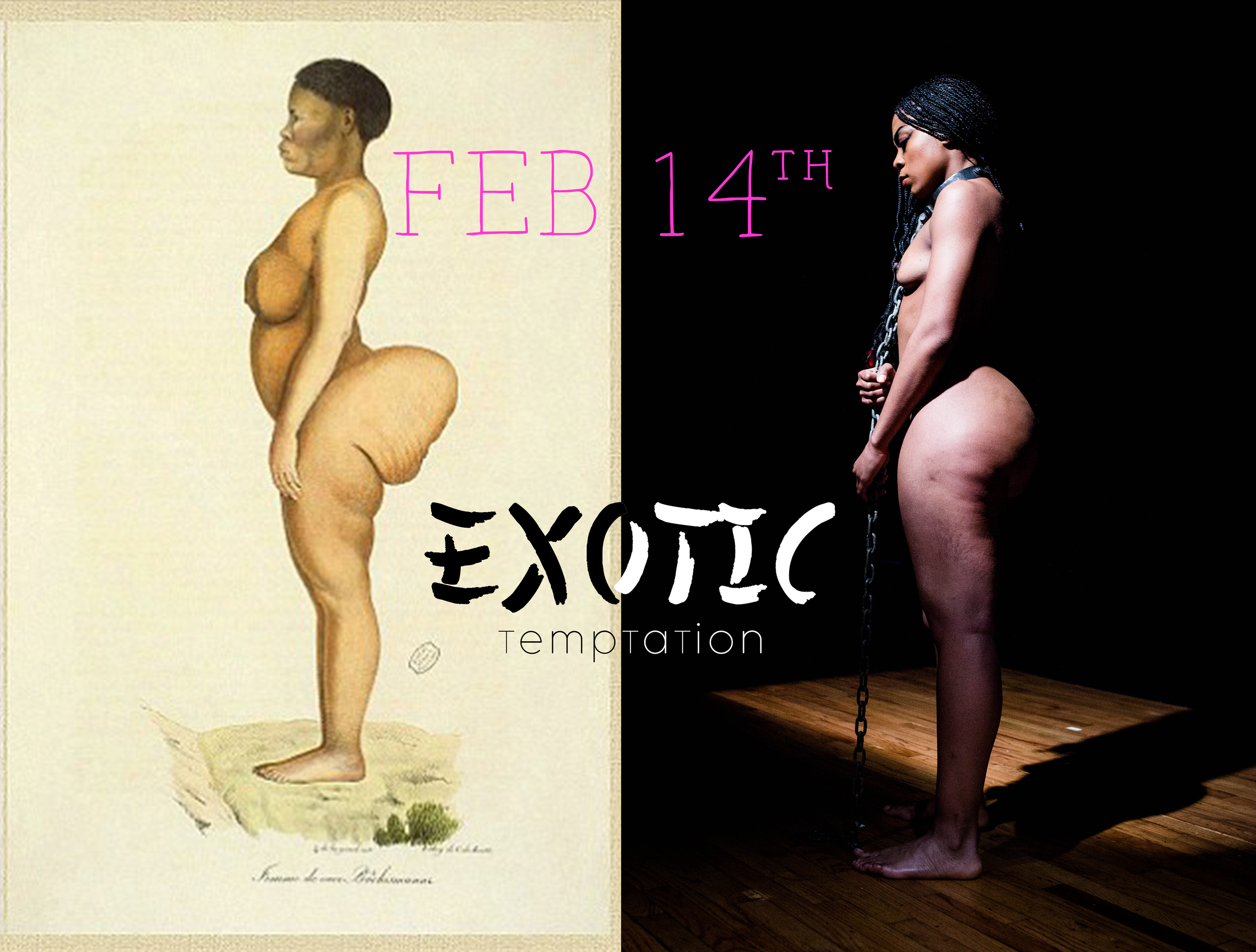 "H+ | Executive Director Porshia Derival as ""Saartjie Baartman""  Photography Credit: AK47 Division®"