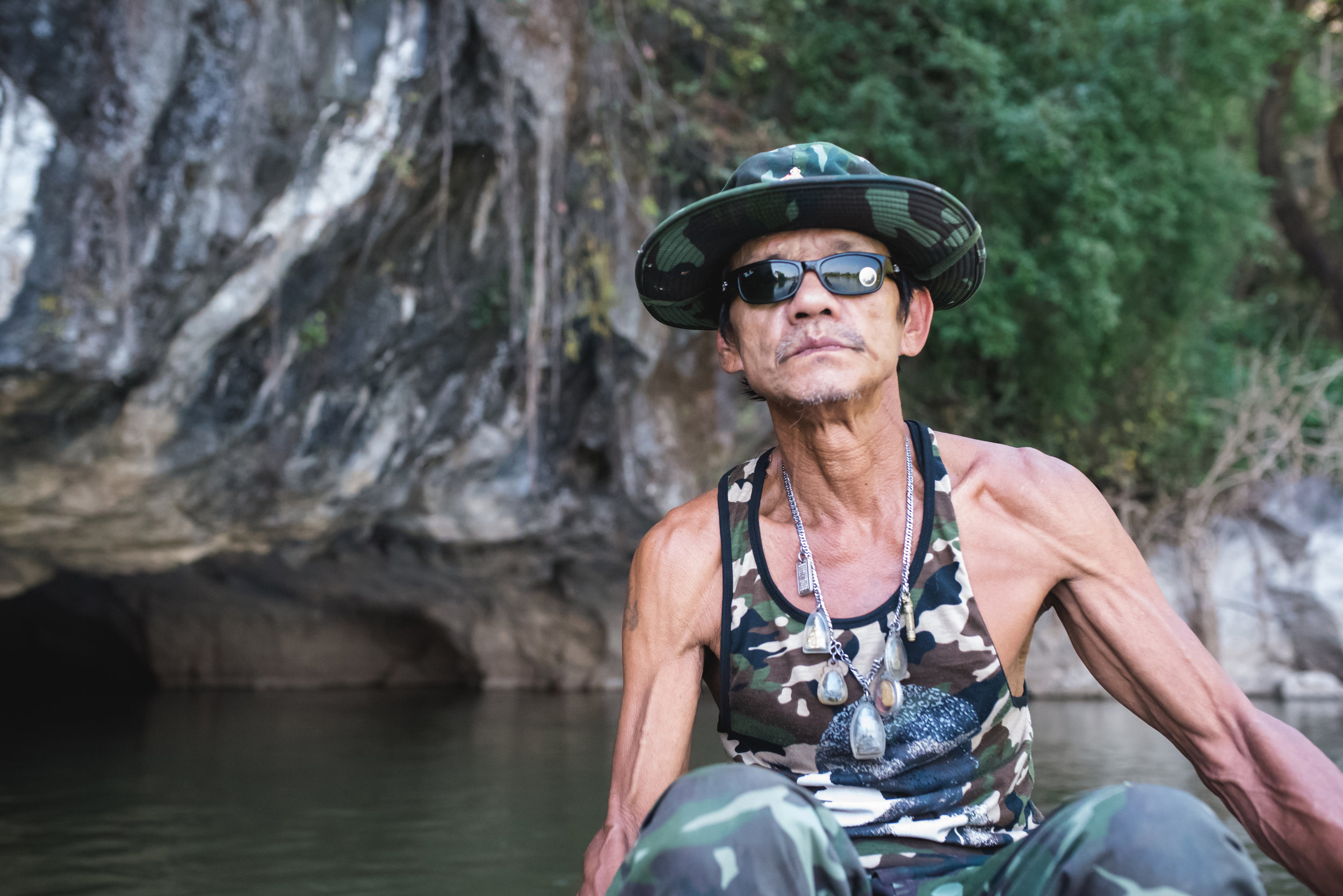 This badass rowed us through some caves.