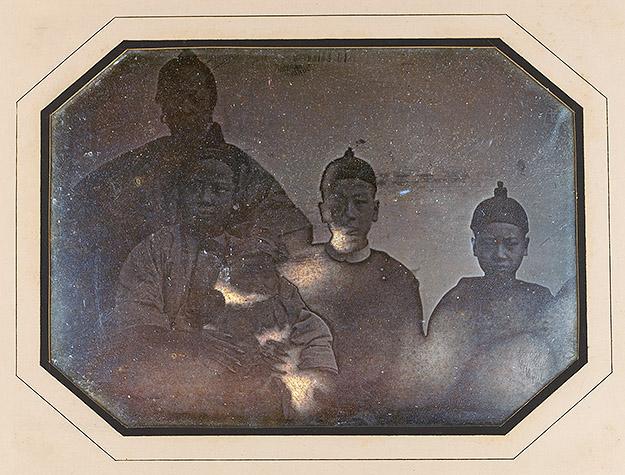 Famille de Pon Tin Quoi, octobre 1844, daguerréotypie