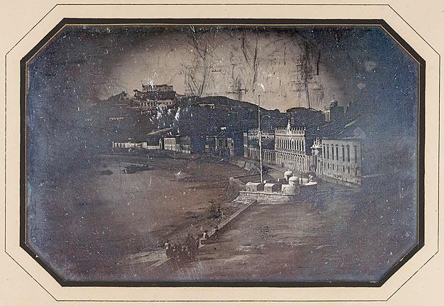 Vue renversée de la Praja à Macao, octobre 1844, daguerréotypie