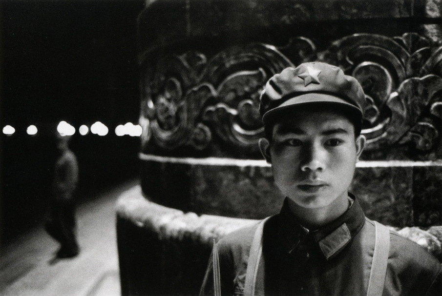 Young red guard in front of the People Palace, Beijing, 1971