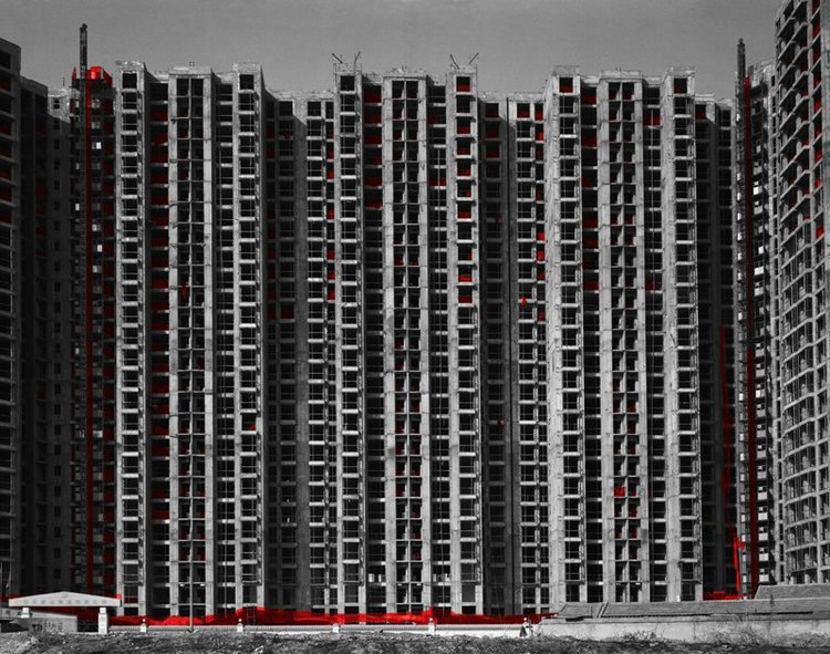 The Red and the Black - 31, Wangjing, Beijing, 2006, Digital C-print