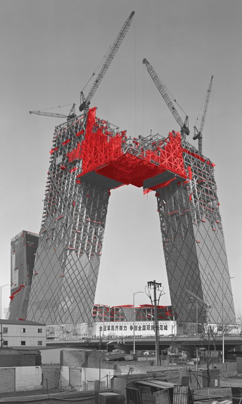 The Red and the Black - 35, CCTV Tower, 2006, Digital C-print