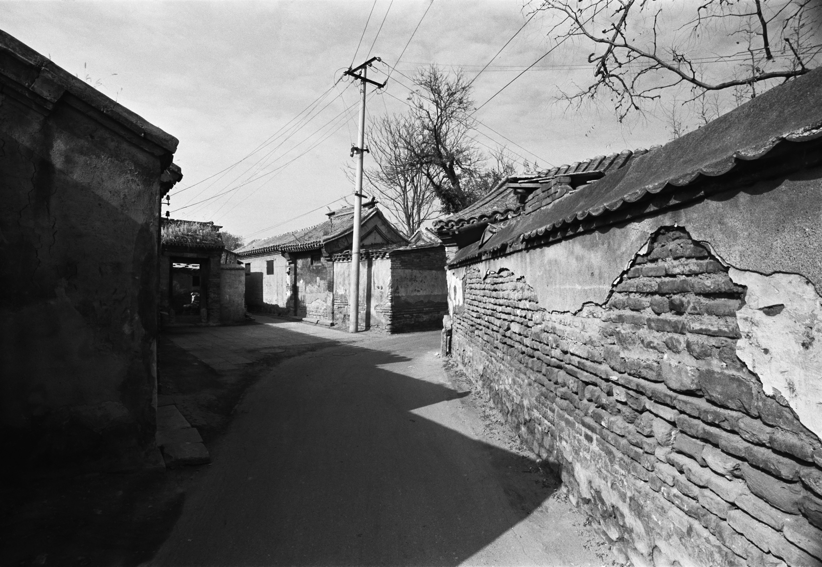 Oil Painting Hutong (1989) | Courtesy of Hua Gallery