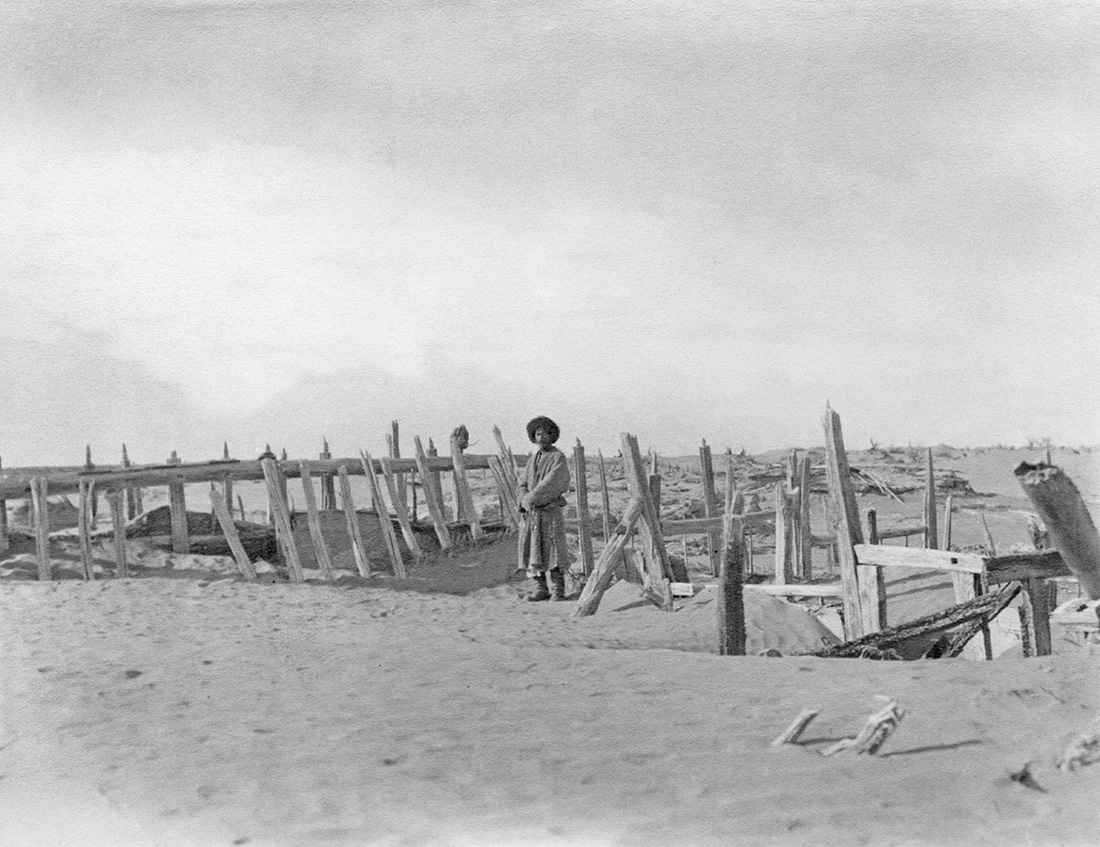 Niya, ruin identified by Stein as the local administrative office, December 1913. Photo 392/29(58) © British Library
