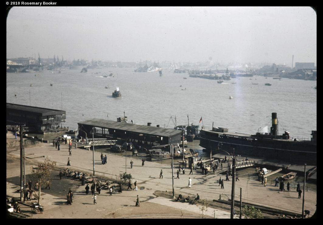 Huangpu river and Bund, Shanghai, 1945 (RB-t899) © 2010 Rosemary Booker