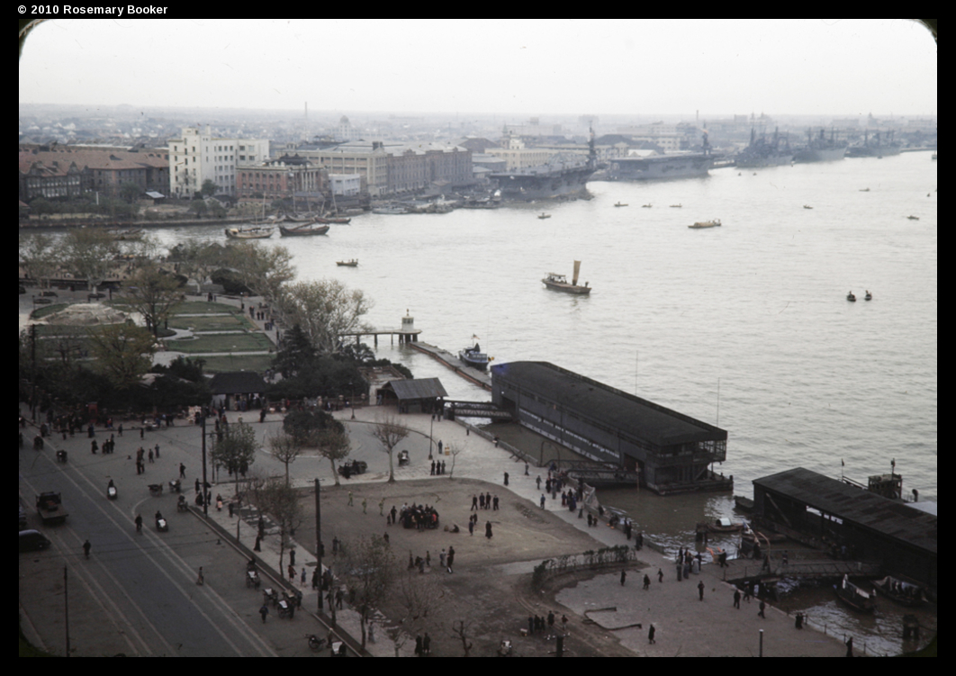 Huang Pu river, Public Gardens and Bund, Shanghai, 1945 (RB-t893) © 2010 Rosemary Booker