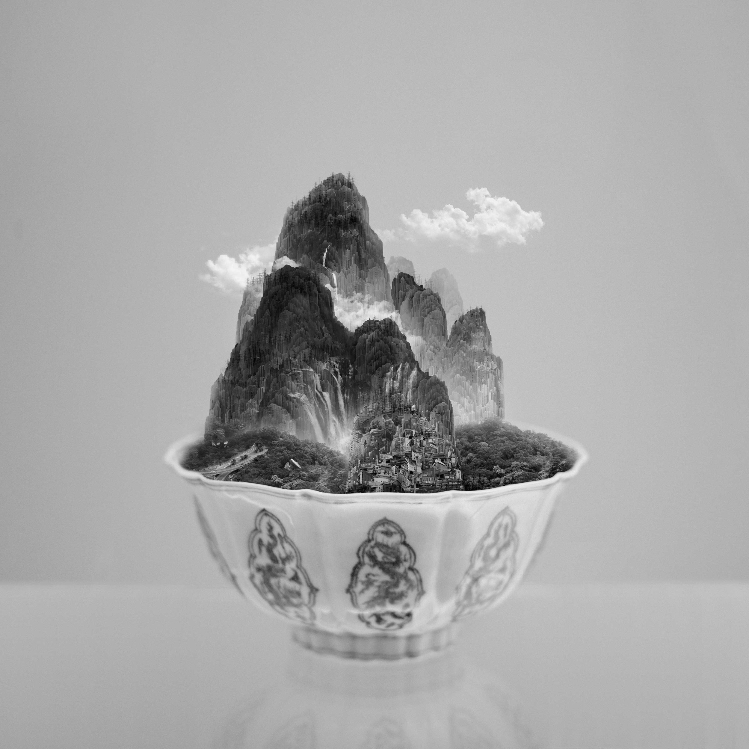 A Bowl of Taipei No.2, 2012, 150 x 150 cm, Epson Ultragiclee print on Hahnemühle Traditional Photo Paper