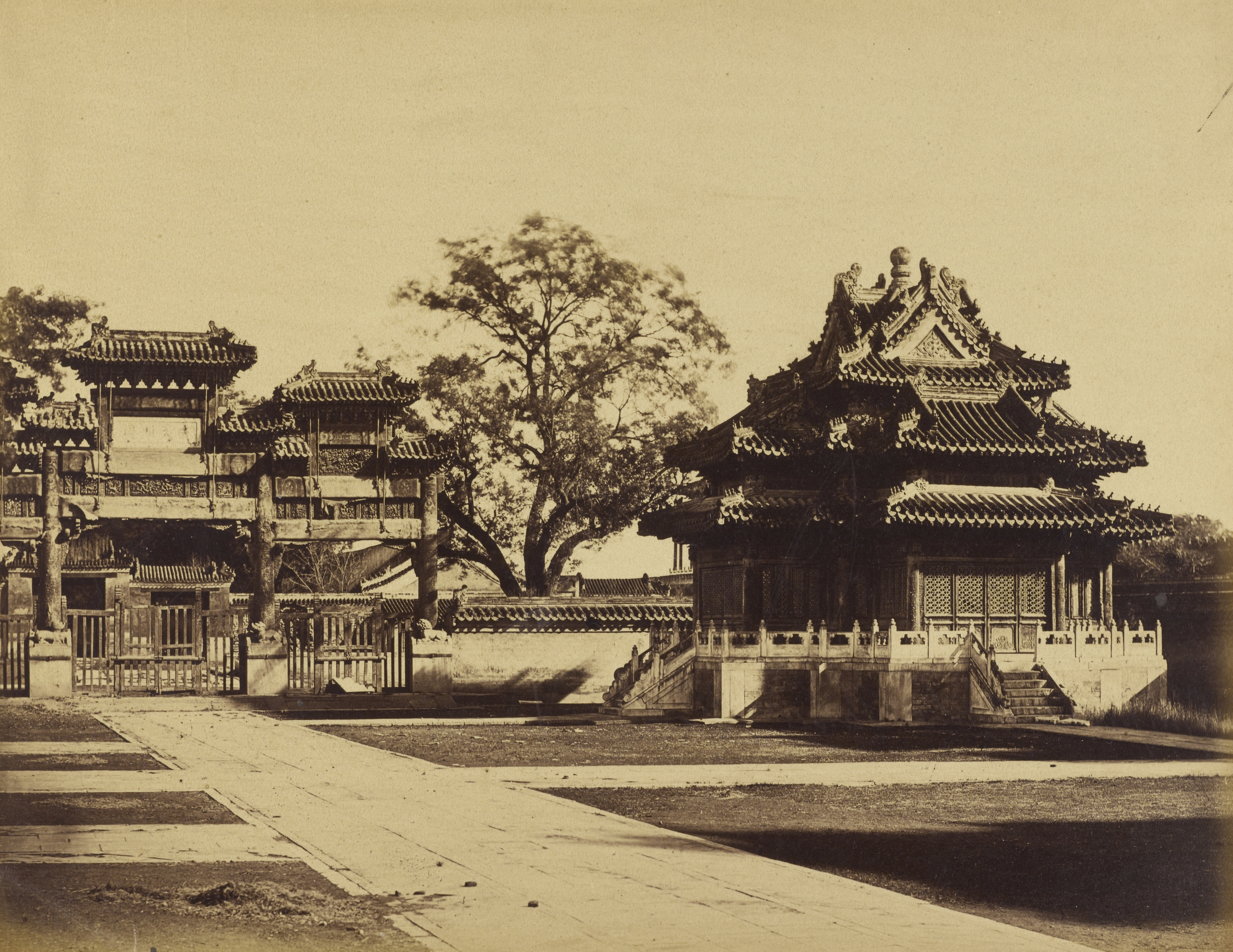 Imperial Winter Palace, Pekin, October 29, 1860, Albumen silver print, 22.5 x 29.1 cm. The J. Paul Getty Museum, Los Angeles