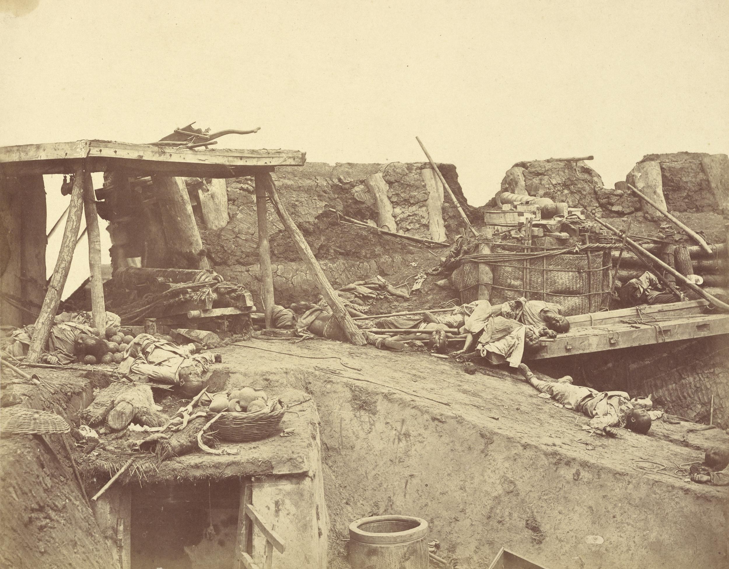 Interior of the English Entrance to North Fort on 21st August, 1860, Albumen silver print, 23.7 x 30.3 cm. The J. Paul Getty Museum, Los Angeles
