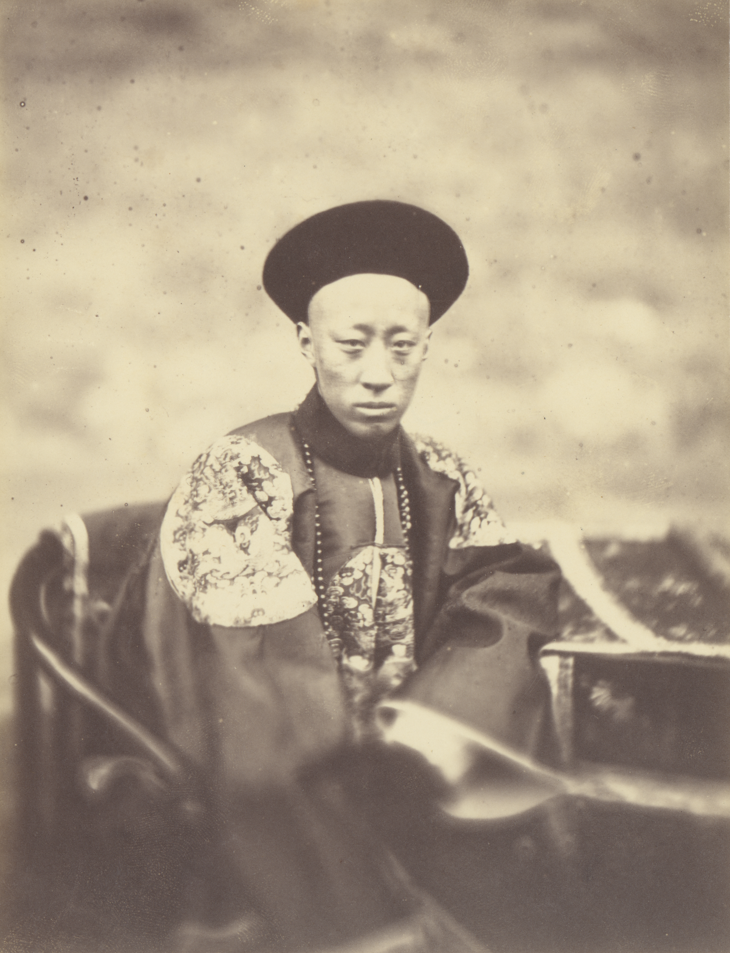 Portrait of Prince Kung, Brother of the Emperor of China, Who Signed the Treaty, 1860, Albumen silver print, 16.6 x 13 cm. The J. Paul Getty Museum, Los Angeles