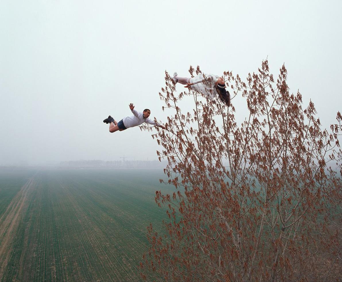 """""""Love meets 22m"""", 2008.03.22. Beijing. 176 x 216 cm"""