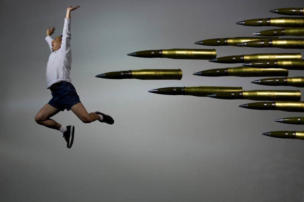 """""""Bullet 4"""", 2010,02,12. Beijing. 155 x 232.5 cm"""