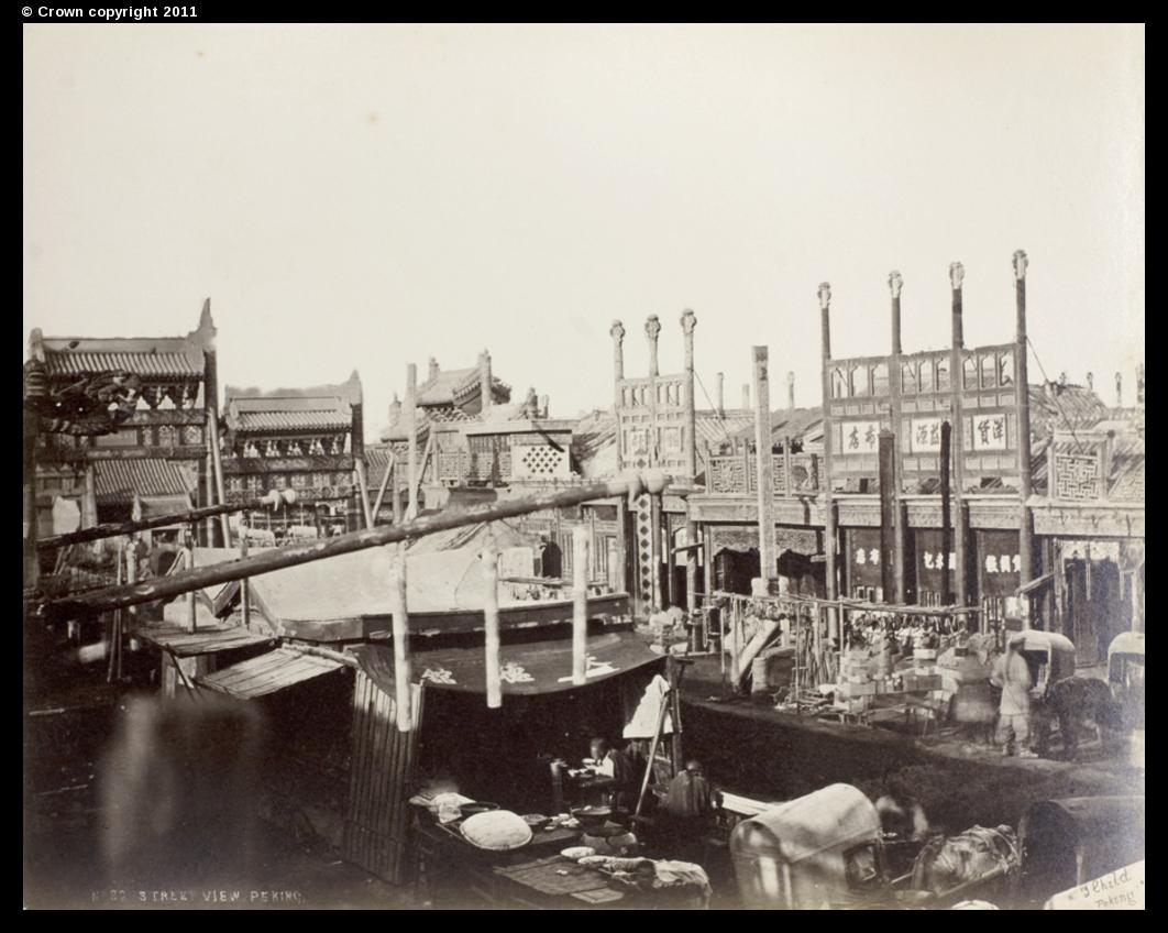 Market by Dongsi Pailou, Peking, circa 1870-80