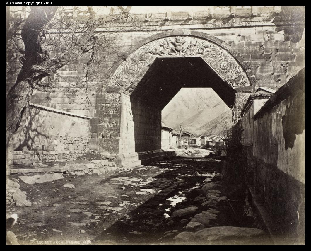 Ancient arch at Nankou Pass, 1877
