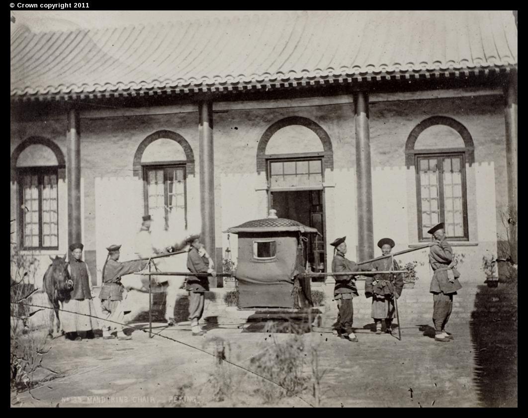 Mandarin's sedan chair, Peking, circa 1870-90