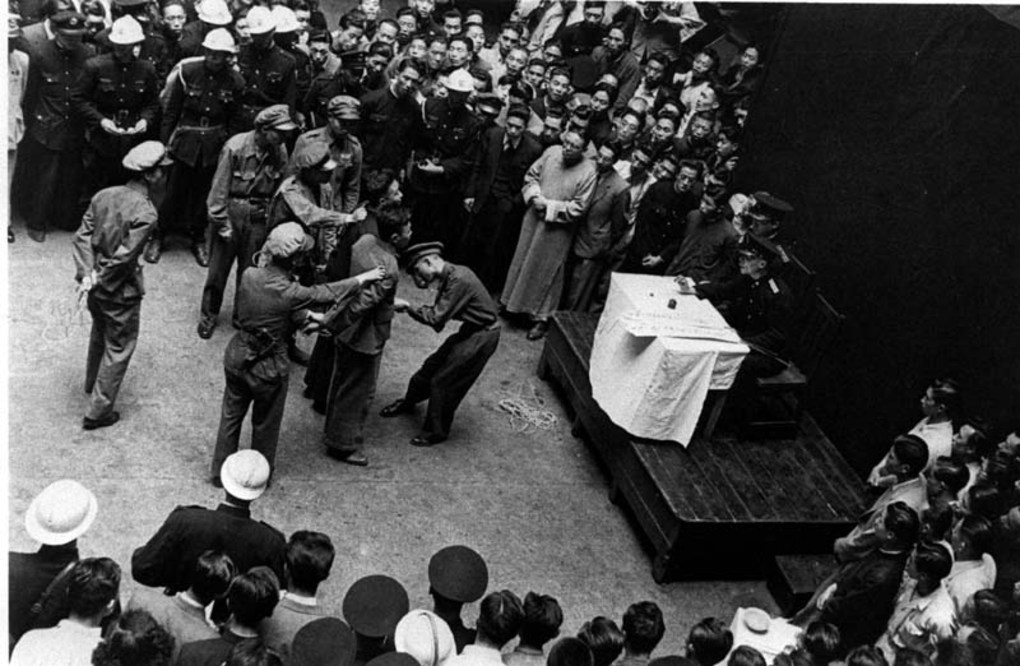 Communist activists tried by a nationalist military judge, May 1949. Image courtesy of the Institut d'Asie Orientale and Virtual Shanghai