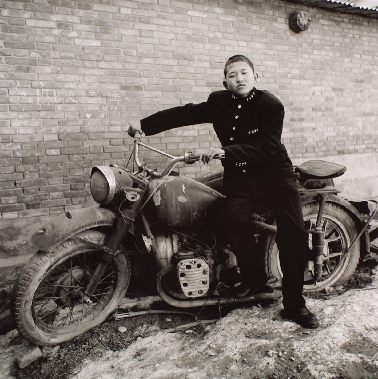 A Rural Boy In School Uniform, Fengxiang, Shaanxi Province, 2000, Gelatin silver print