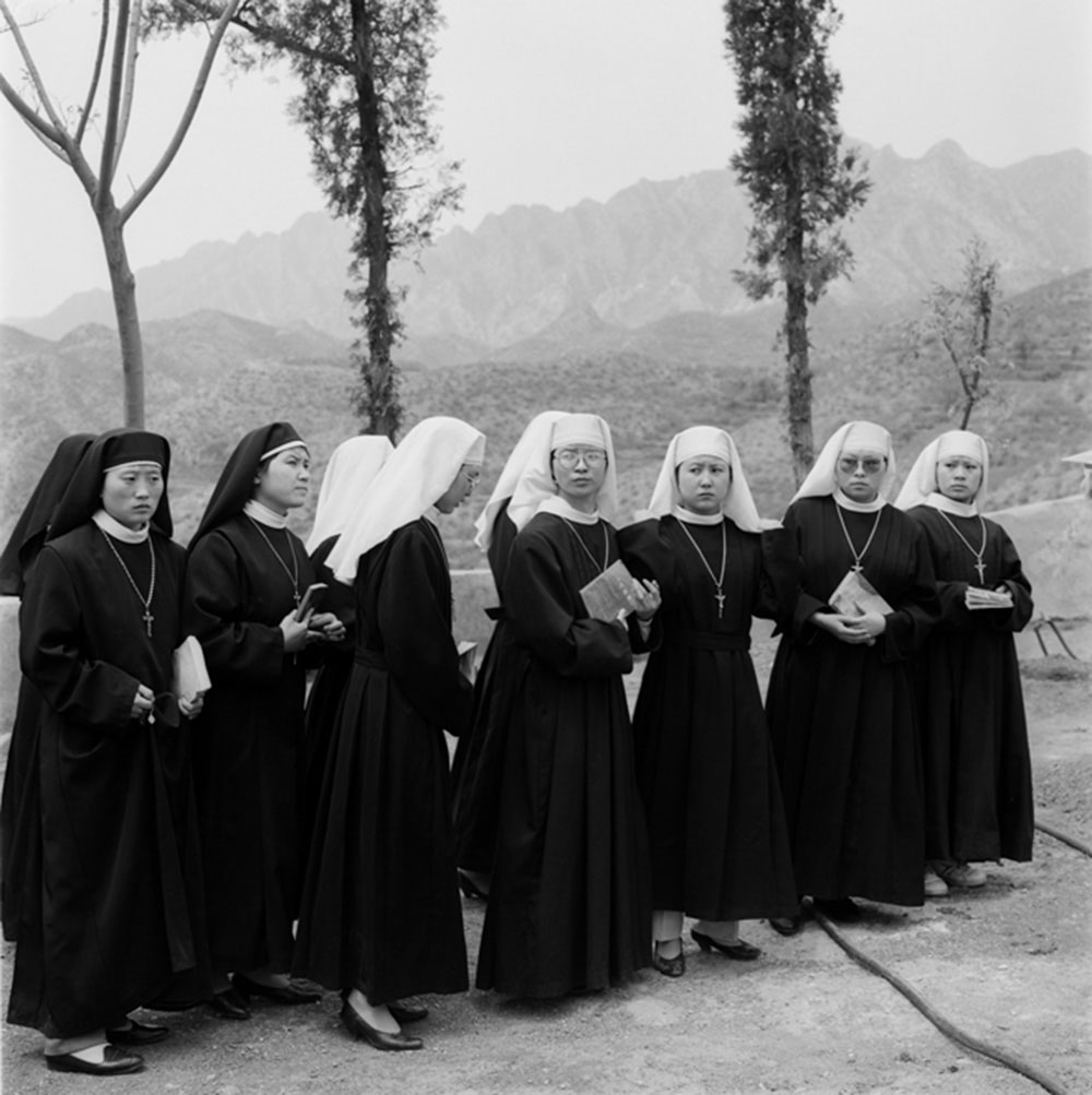 Nuns, Beijing, 1996, Archival inkjet print