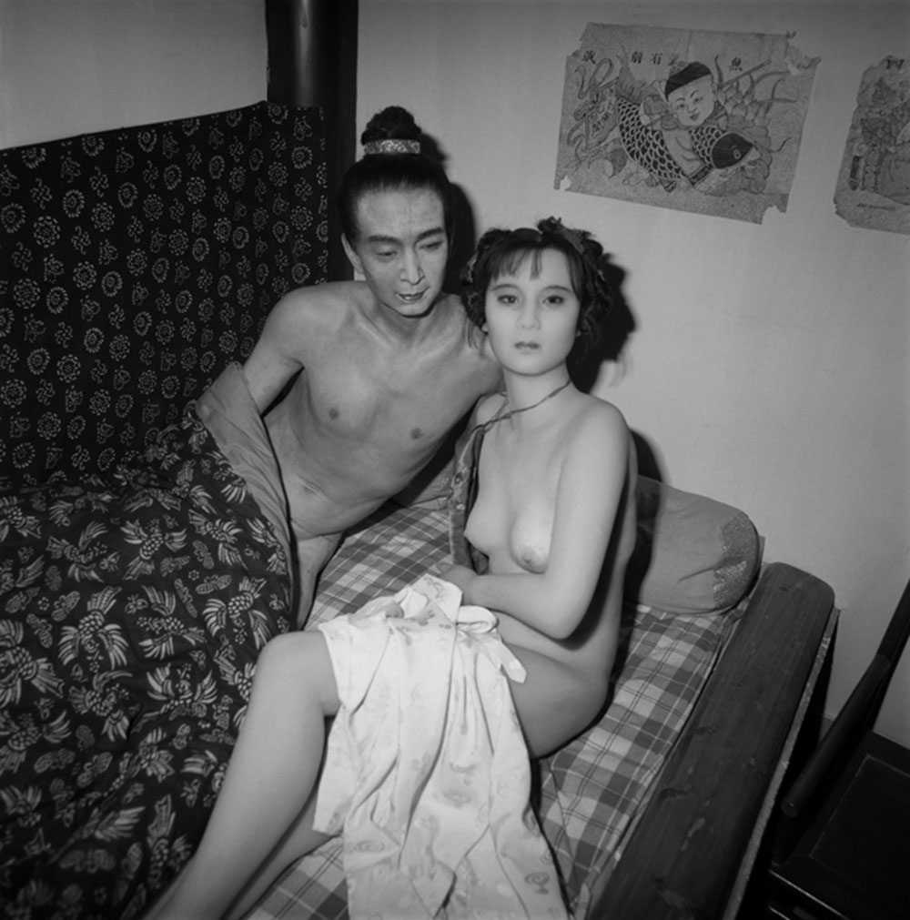 Waxwork: Emperor and Girl in Fornication, Changping, Beijing, 2000, Archival inkjet print