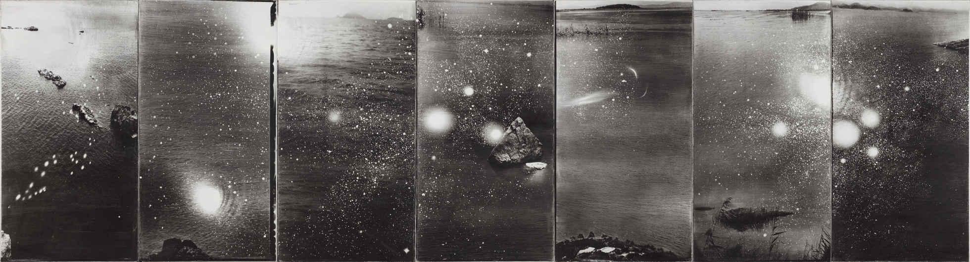 Shao Wenhuan, Indefinite...II, 2010, Photography, gelatin emulsion in silver halide on silk, 115 x 60cm x 7 panels