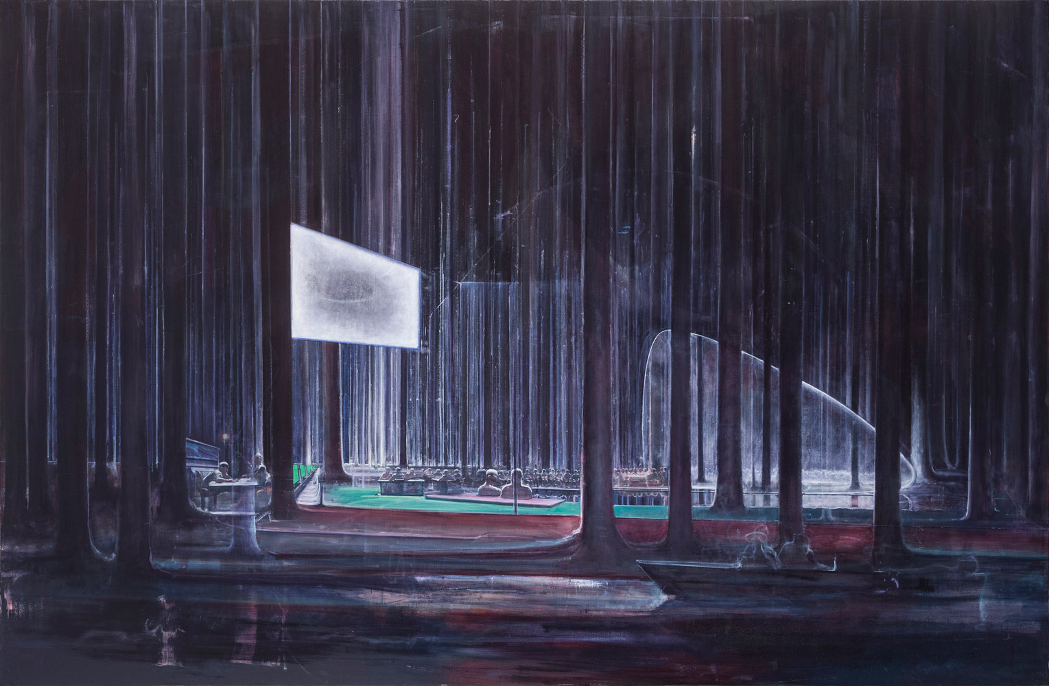 """Zhu Xinyu, """"A Clear Reflection"""", 2014, oil on canvas"""