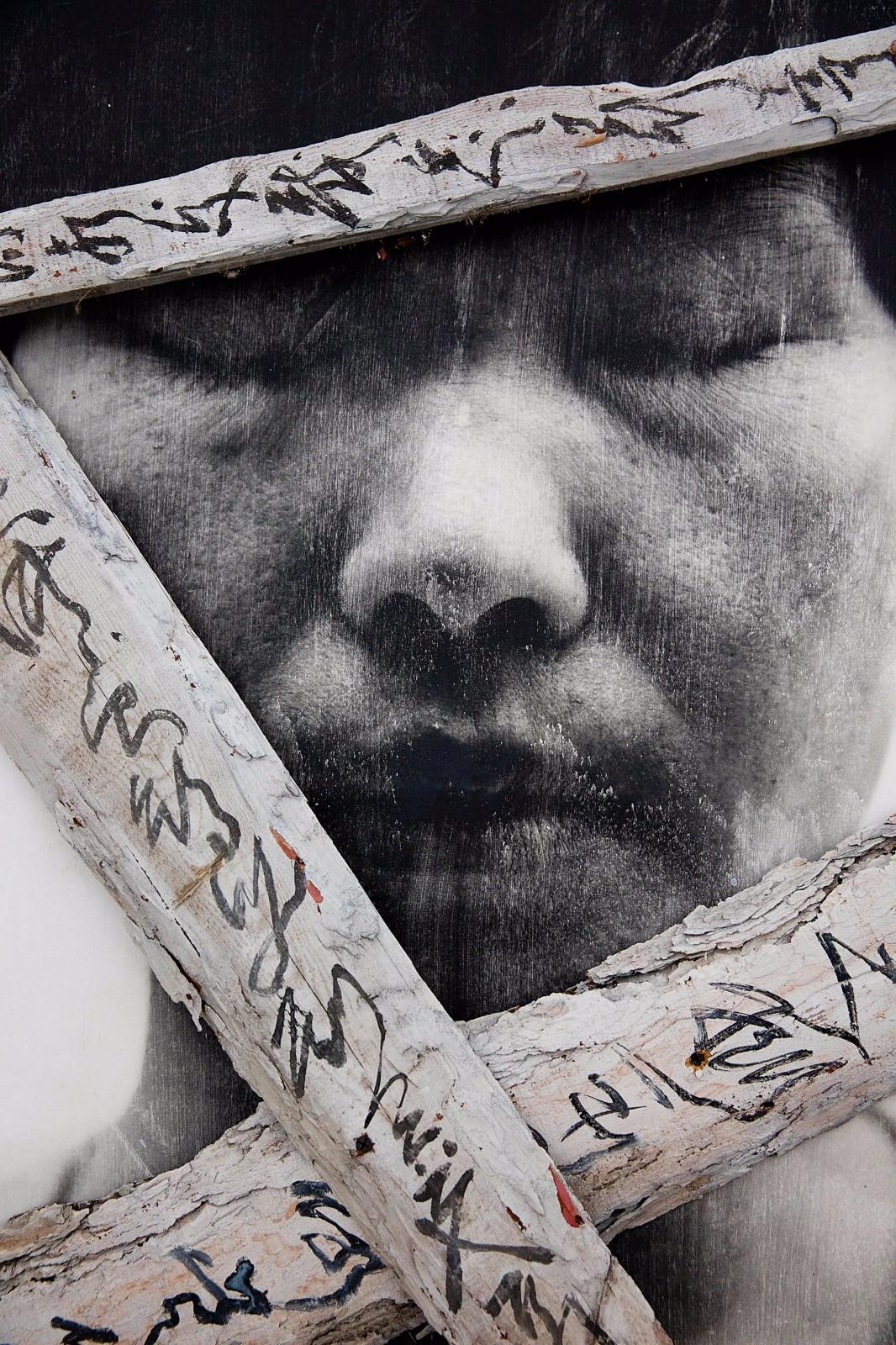 Disparition de la Figure I-II, 2000-2015, gelatin silver print on fabric © BoSTUDIO. Photo by Ma Xiao Xiao