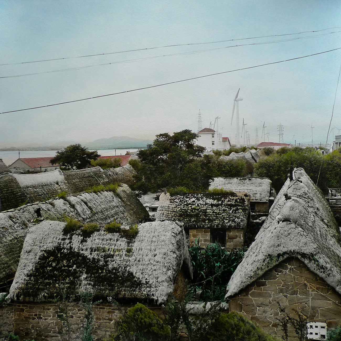 """Yajing Liu, """"Once There Was [海草房]"""", from the Seaweed House [海草房] series, 2012, hand-colored photograph"""