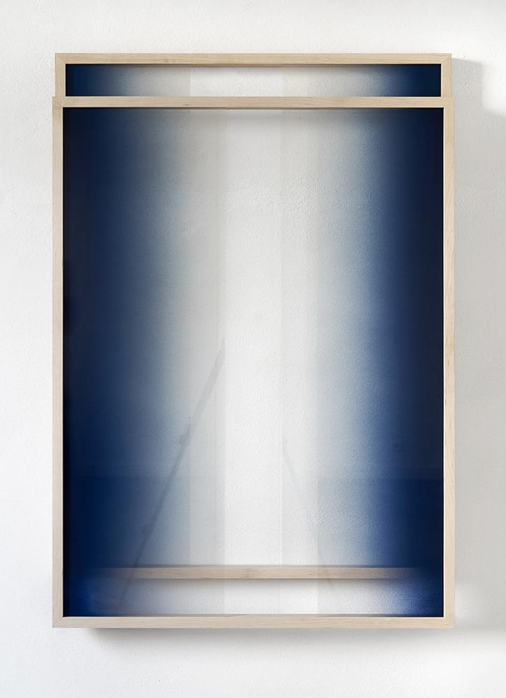 "Sebastian Wickeroth, ""Untitled"", Spray paint on glass and wood (Galerie Paris-Beijing)"