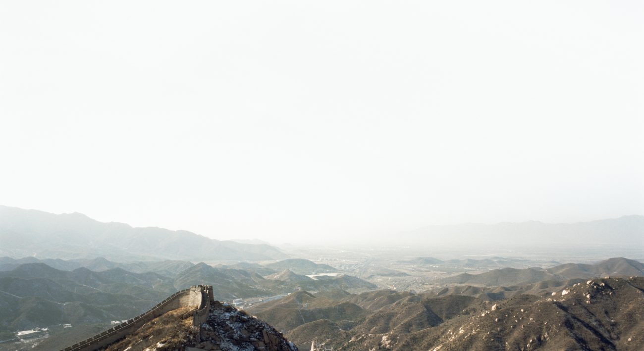 Sze Tsung Leong, Horizons - Great Wall, 2001 / Courtesy of Polka Galerie