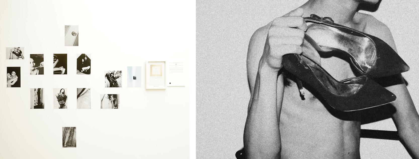 Left: Three Shadows Photography Art Centre exhibition views of Liang Xiu's works Right: Liang Xu, untitled, photograph